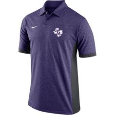 Nike Men's Stephen F. Austin State University Victory Block Polo Shirt (Purple, Size Small) - NCAA Licensed Product, NCAA Men's Jersey/Polos at Aca...