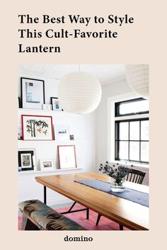 Fall home decor trends - sculpural lighting via paper lanterns in the dining room Decoration Inspiration, Dining Room Inspiration, Interior Inspiration, Decor Ideas, Fall Home Decor, Autumn Home, Home Decor Trends, Dining Room Walls, Dining Room Design