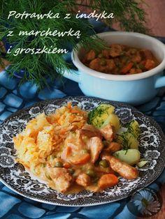 Kulinarne Szaleństwa Margarytki: Potrawka z indyka z marchewką i groszkiem