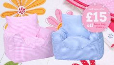 May Mayhem!! £40 for a childrens gingham bean bag chair! amazing value