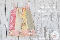 Pillowcase Dress Tutorial - elastic neckline and straps