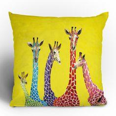 Jellybean Giraffes Throw Pillow now featured on Fab.
