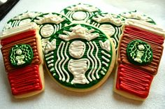 Starbucks Latte Cookies and Red Cups