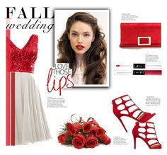 """""""Fall Wedding"""" by flytotheworld ❤ liked on Polyvore featuring Jimmy Choo and Roger Vivier"""