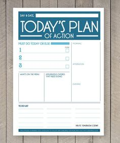 Printable Planner Daily To Do List