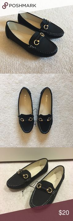 Black nubuck driving boat shoes flats loafer Brand new no shoebox. Super comfy shoes. Shoes Flats & Loafers