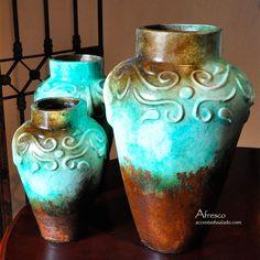 Turquoise Vase Set Mediterraneo
