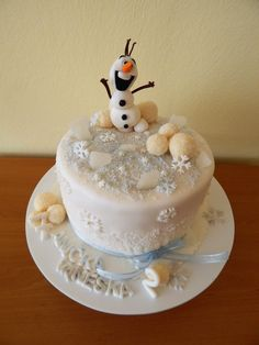 Cake with Olaf