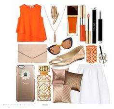 """""""Happy Orange"""" by pulseofthematter ❤ liked on Polyvore featuring Chloé, Kenzo, malo, Vera Bradley, Dorothy Perkins, Marni, Nest, Tom Ford, Yves Saint Laurent and Tory Burch"""