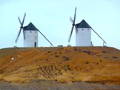 The classic windmills of La Mancha in Spain