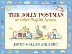 The Jolly Postman or Other People's Letters by Janet and Allan Ahlberg. The Jolly Postman delivers cards and letters to various fairy-tale characters. A timeless classic that children enjoying reading over again. Books To Buy, New Books, Good Books, Little Pigs, Little Red, Jolly Christmas Postman, The Jolly Postman Book, Buying Books Online, Other People