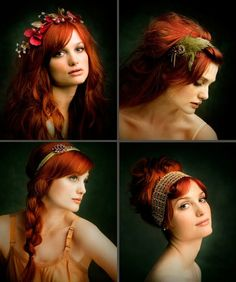 RED WITH HEADBAND