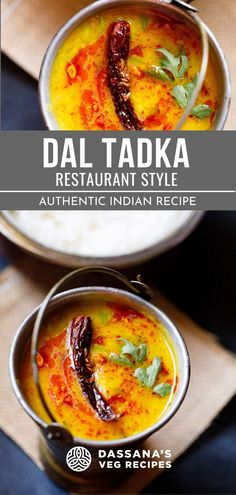 This dal tadka recipe is authentic and just like the restaurant style. The best dal tadka around! #recipe #autentic #dassanasvegrecipes #daltadkarecipe Paneer Recipes, Lentil Recipes, Veg Recipes, Lunch Recipes, Vegetarian Recipes, Cooking Dishes, What's Cooking, Cooking Recipes, Punjabi Recipes