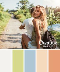 15 Fresh Color Palettes for Spring ~ Creative Market Blog #colorpalette #colourpalette #colorinspiration #colorscheme