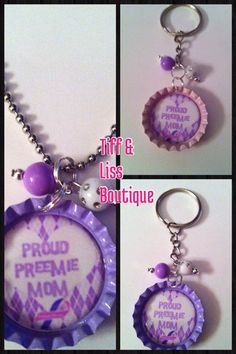 Proud Preemie Mom and Dad BottleCap Necklace by TiffLissBoutique, $5.50, I need this cause I am proud of paxton