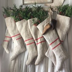 Excited to share the latest addition to my shop: PEACE Christmas Garland Banner~ Antique Grainsack French Christmas, Cowboy Christmas, Prim Christmas, Merry Little Christmas, Vintage Christmas Cards, Country Christmas, Beautiful Christmas, Christmas Trees, Primitive Christmas Decorating