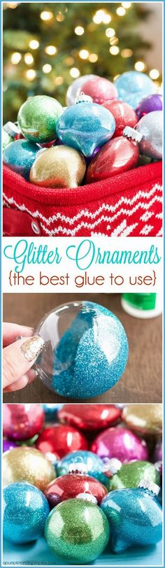 How To Make Beautiful Glitter Christmas Ornaments (Diy Ornaments Vintage)
