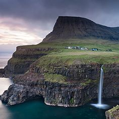 World's Most Amazing Cliffs: Cliffs of Eysturoy, Faroe Islands Oh The Places You'll Go, Places To Visit, Faroe Islands, Travel And Leisure, Landscape Photography, Scenery, To Go, Around The Worlds, Iceland