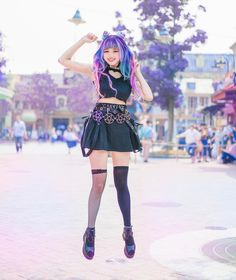 "Gothic fashion 680043612466505294 - Disneyland – Mission Clear 😝 How many Disneyland parks you've been to? My extensions from VP Fashion (code ""canniny"") Source by riguttos Pastel Goth Outfits, Pastel Goth Fashion, Kawaii Fashion, Dark Fashion, Lolita Fashion, Cute Fashion, Gothic Fashion, Girl Outfits, Cute Outfits"