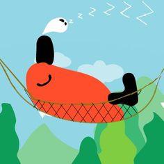 Sleep in a hammock  ぐーすかぴーzZZZ