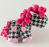 Harry Horse Sewing Pattern by Sweetbriar Sisters in Riley Blake Designs Houndstooth #rileyblakedesigns #houndstooth