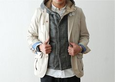 Hooded Vest by Engineered Garments