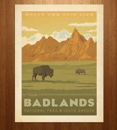 Badlands Art Print | Anderson Design Group