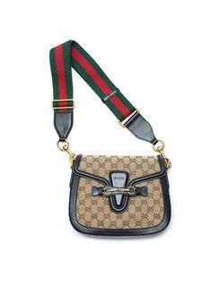 Lady Web GG Signature Authentic Black Leather Red Strap Italy New Bag , authentic, visit site for best deals