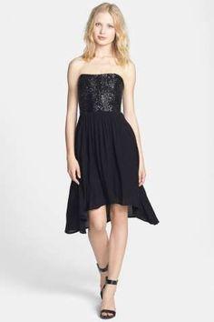 Ella Moss 'Anita' Sequin Bodice High/Low Dress