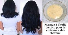 So wachsen Haare mit Kokosöl nach (Rezept)  #haare #kokosol #mit #nach #rezept #wachsen #frisuren #damenfrisuren #haare #beauty #women