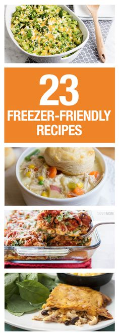 Make these delicious meals and freeze the leftovers for easy reheating!