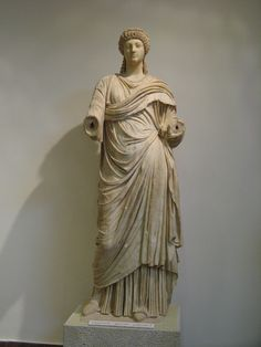 Poppaea Sabina. Wife of Nero, as a priestess. Archaeological Museum of Olympia. Elis, Greece. 1C.