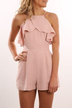 Much More Playsuit Peach