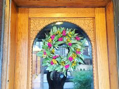 Spring Wreath - Front Porch Updates: via Midtown Modern KC