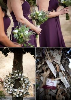 Bouquets with lavender and herbs