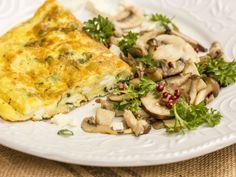 Omelette Menthe/Feta et ses champignons