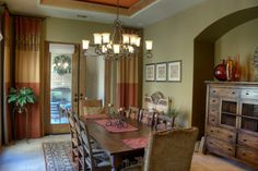 Tuscan theme in the dining room