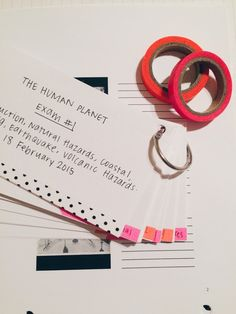 bookishgold: Using washi tape to highlight +separate at a glance. This is my favorite study technique at the moment: flashcards on a ring. Wish me luck on my exam!