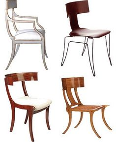 Klismos Chairs- love almost any variation.