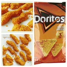 Kippendijfilet in ontbijtspek Doritos, Party Finger Foods, Party Snacks, Food L, Food Porn, Bruschetta Recept, Dorito Chip, Air Fryer Chicken Tenders, Catering