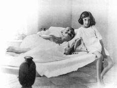 Mahatma Gandhi with Indira Gandhi.