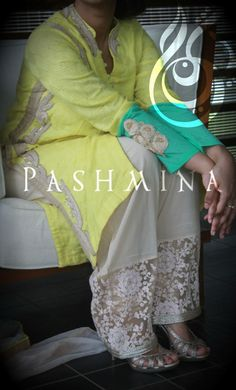Pants! Indian Attire, Indian Outfits, Indian Clothes, Leggings Fashion, Fashion Pants, Kurti Sleeves Design, Hand Embroidery Dress, Indian Designer Suits, Salwar Designs