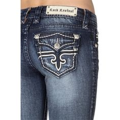 Pre-owned Rock Revival Boot Cut Jeans ($108) ❤ liked on Polyvore