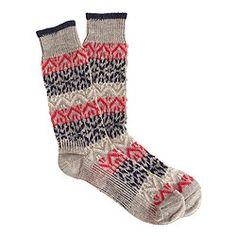 Fair Isle stripe socks $16.50