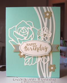 Stampin' Everything!: Swirly Scribbles, Rose Wonder Birthday Card