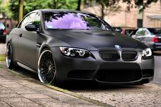 Matte Black BMW M3   Sweeeet!