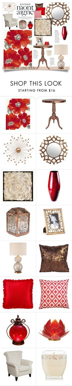 """""""Red & Bronze Home"""" by katrinaalice on Polyvore featuring interior, interiors, interior design, home, home decor, interior decorating, Avenue, Dynamic Rugs, Ren-Wil and Universal Lighting and Decor"""