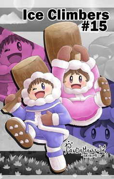 Super Smash Bros Characters, Super Smash Bros Brawl, Nintendo Characters, Video Game Characters, Ice Climber, Princess Toadstool, Rave Costumes, Kid Icarus, Climbers