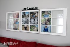 Old windows make a GREAT idea!!  {Decorating with Portraits Series from Kristine Lynn Photography}