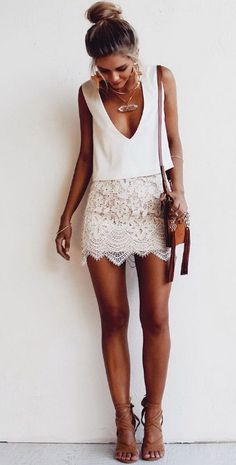 that skirt!! love the detailing. Not a fan of white skirts..so a color would be better for me. maybe a navy or something.